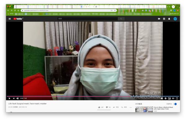 hijab and surgical mask youtube screenshot 01