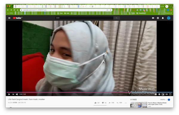 hijab and surgical mask youtube screenshot 02