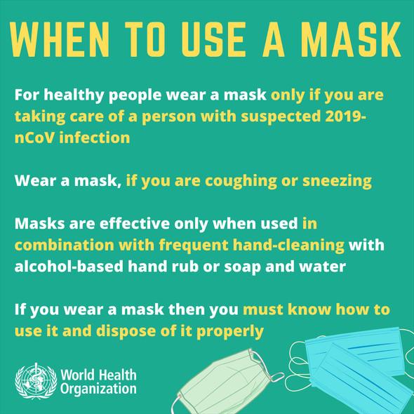 WHO マスクは着用するなとプロパガンダ