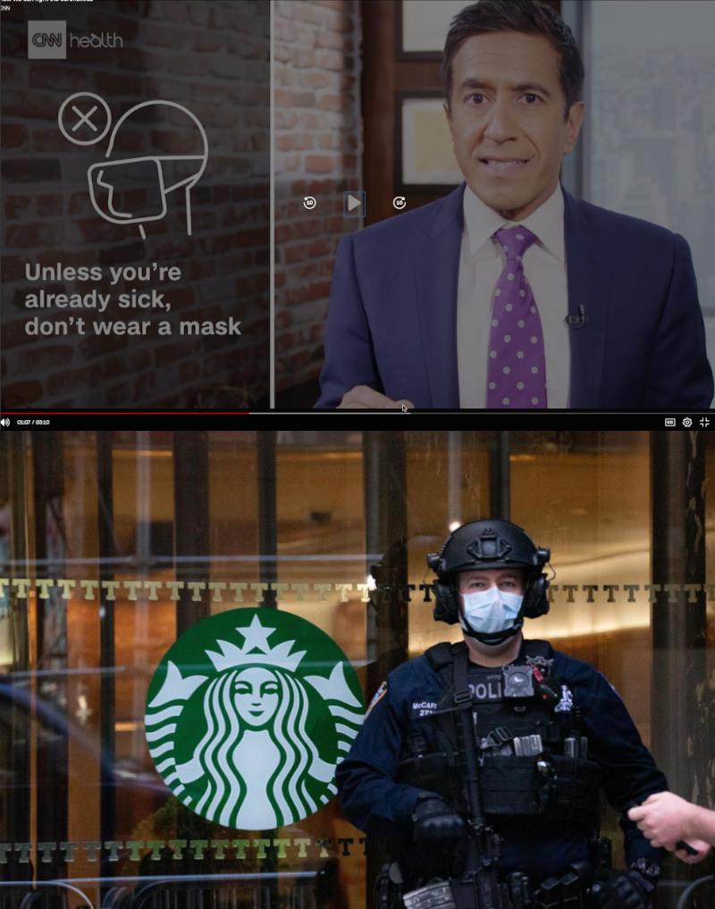 CNNでも「マスクは着用するな」