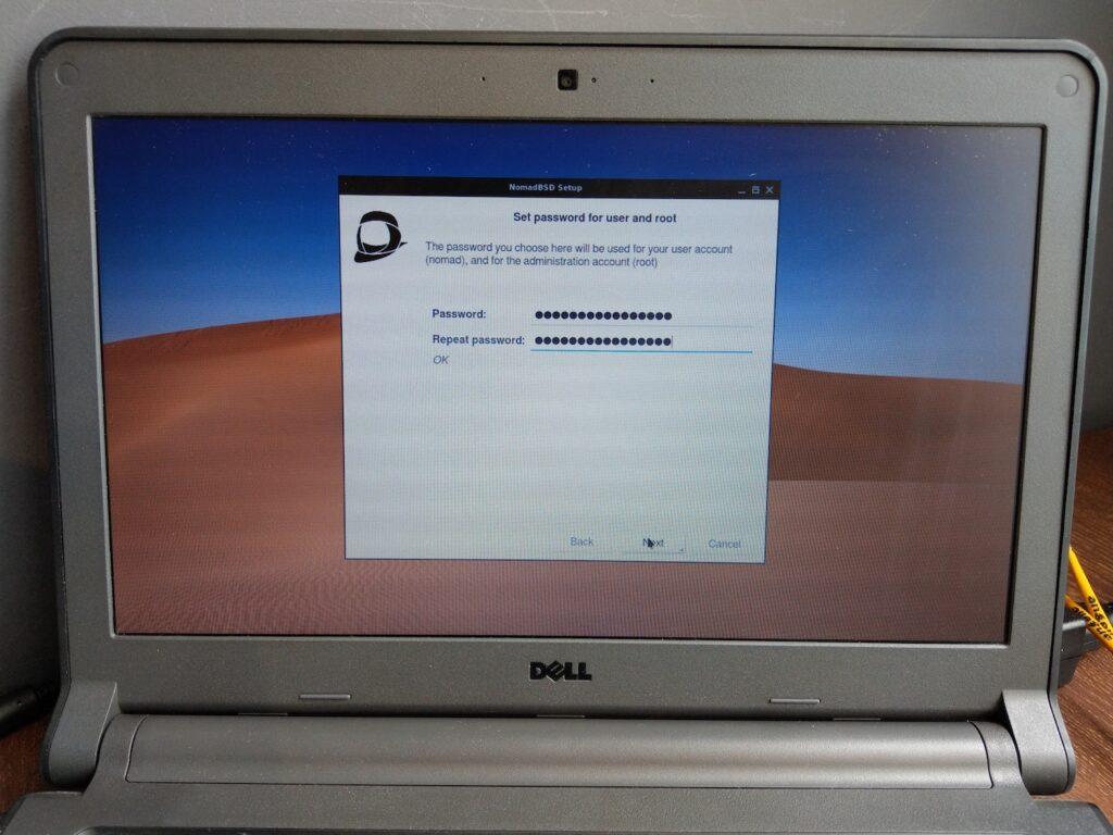 19 NomadBSD Set Password