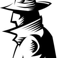 ハードボイルドな探偵のイラスト