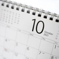 10月のカレンダーの画像