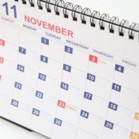2021年11月のカレンダー